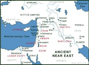 26 Tyre Map Ancient Near East